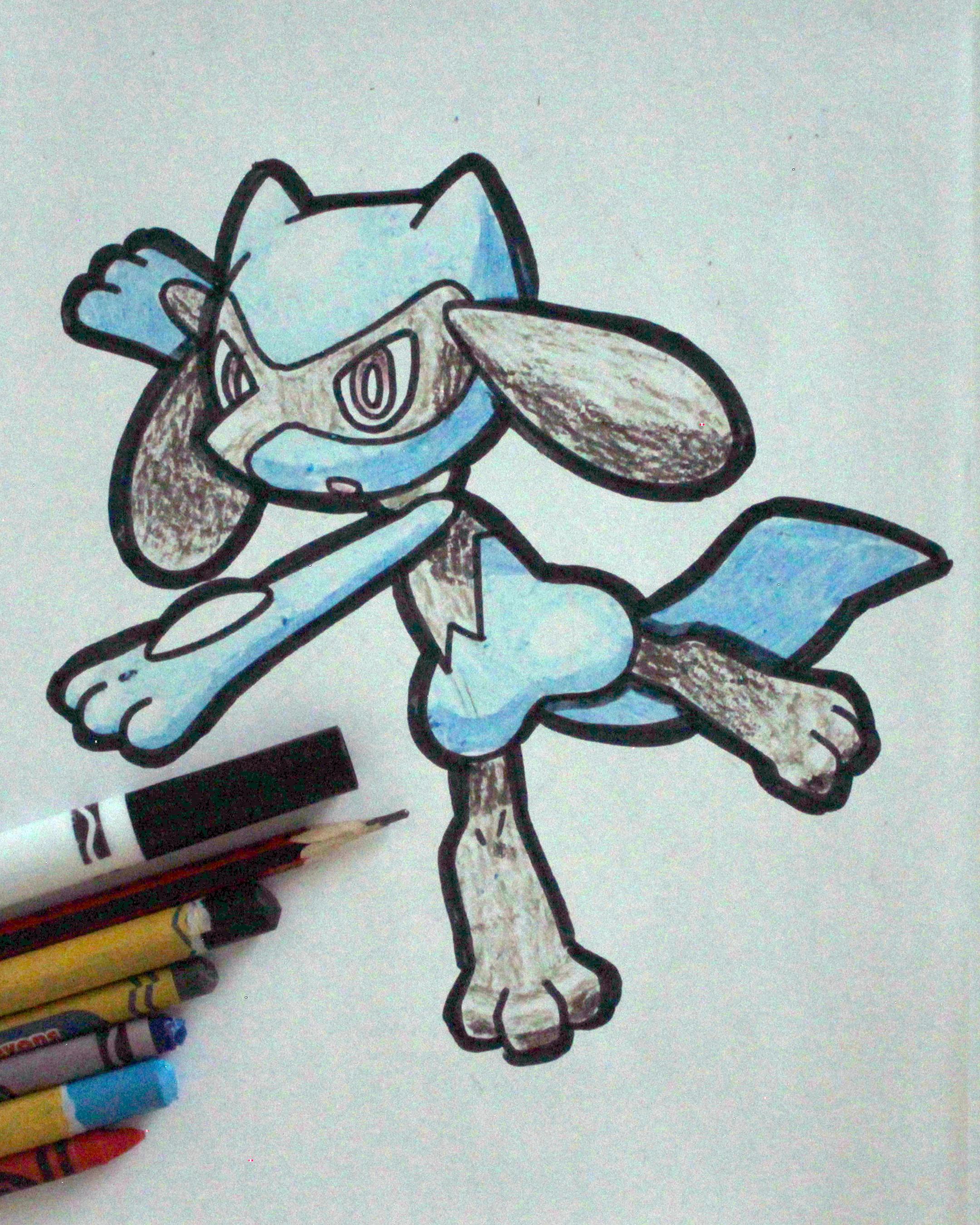 How To Draw Riolu